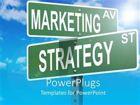 PowerPlugs: PowerPoint template with street signs as a metaphor marketing and strategy business planning goals