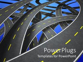 PowerPlugs: PowerPoint template with streets and lanes as a metaphor directions decisions maps and places to choose