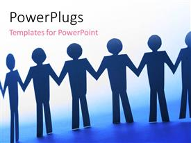 PowerPlugs: PowerPoint template with strength in team work with white color