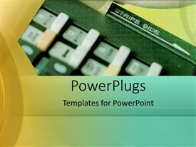PowerPoint template displaying a strip side with yellowish background