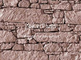 PowerPlugs: PowerPoint template with a strong rock wall being built by a number of various sized rocks
