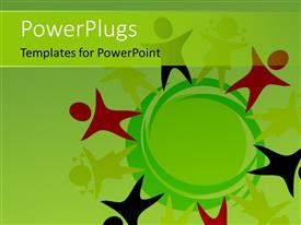 PowerPlugs: PowerPoint template with stylized colored children symbols around an abstract globe