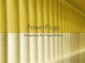 PowerPoint template displaying stylized columns of light in yellow colors