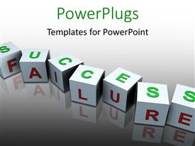 PowerPlugs: PowerPoint template with a number of blocks with greyish background