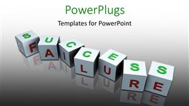 PowerPoint template displaying a number of blocks with greyish background