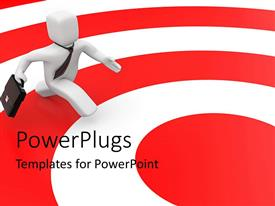 PowerPlugs: PowerPoint template with a colorful background with a person