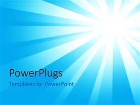 PowerPlugs: PowerPoint template with sun in the background and place for text