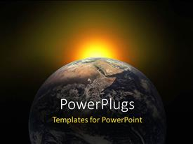 PowerPlugs: PowerPoint template with sunlight glow in background with earth globe
