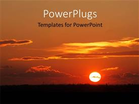 PowerPlugs: PowerPoint template with a sunset in the background along with clouds