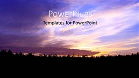 PowerPoint template displaying a sunset in the background with a lot of clouds
