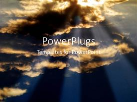 PowerPlugs: PowerPoint template with sunset clouds dramatic lighting metaphor opportunity hope
