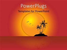 PowerPlugs: PowerPoint template with a sunset and a number of birds