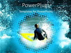 PowerPlugs: PowerPoint template with a surfer surfing in the ocean