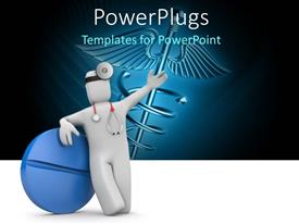 PowerPlugs: PowerPoint template with a surgeon along with a tablet
