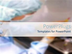 PowerPoint template displaying a surgeon in the background with place for text