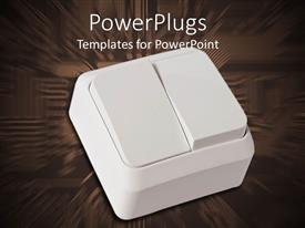 PowerPlugs: PowerPoint template with a  switch with brownish digital background