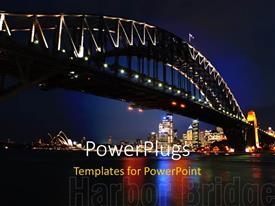 PowerPlugs: PowerPoint template with the Sydney bridge with skyscrapers on the other side