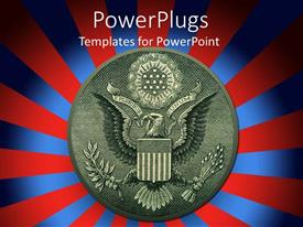 PowerPlugs: PowerPoint template with the symbol of America with a number of lines in background