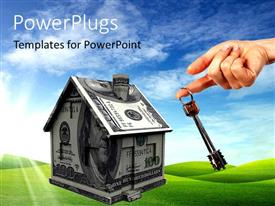 PowerPlugs: PowerPoint template with symbol of real estate, with nature