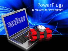 PowerPlugs: PowerPoint template with a system with an error screen and a time bomb