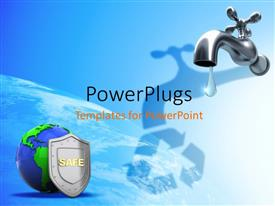 PowerPlugs: PowerPoint template with a tap with a recycle sign