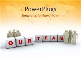 PowerPlugs: PowerPoint template with team bond with team spirit and unity