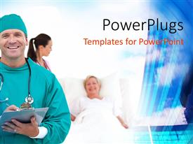 PowerPlugs: PowerPoint template with a surgeon with a patient in the background