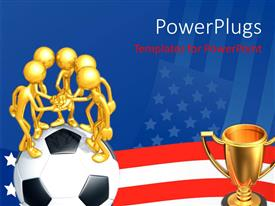 PowerPlugs: PowerPoint template with a team willing to fight for the cup
