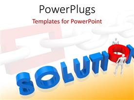 PowerPlugs: PowerPoint template with text which spell out the words solutions