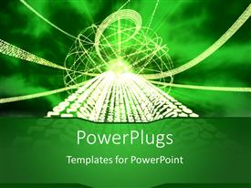 PowerPlugs: PowerPoint template with a technological figure related to binary numbers