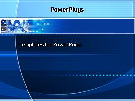 PowerPlugs: PowerPoint template with technology modern geometric electricity blue background atoms molecules energy