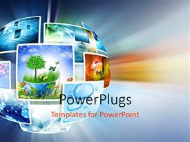 PowerPlugs: PowerPoint template with technology pictures made into a circle