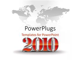 PowerPlugs: PowerPoint template with text which spell out the figures'2010'