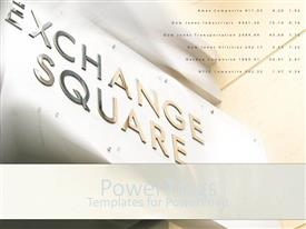 PowerPlugs: PowerPoint template with a text that spell out the words 'Exchange Square'