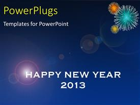 PowerPlugs: PowerPoint template with text which spell out the words 'happy new year 2013'