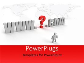PowerPlugs: PowerPoint template with a text which spells out the words 'www.@.com'