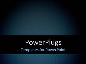 PowerPlugs: PowerPoint template with a plain black and blue background