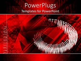 PowerPlugs: PowerPoint template with iT theme with binary code and technology background in red, black and white