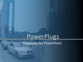 PowerPoint template displaying the theme showing traffic and the advancement of the technology