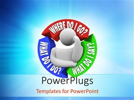PowerPlugs: PowerPoint template with thinking man needs advice with questions around