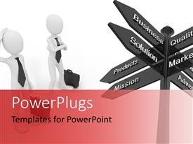 PowerPlugs: PowerPoint template with a number of signs with two people