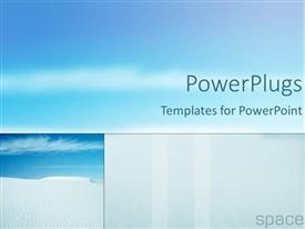 PowerPlugs: PowerPoint template with three depictions of blue sky in various sizes