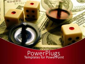 PowerPlugs: PowerPoint template with three dies with incense on lots of dollar bills