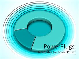 PowerPlugs: PowerPoint template with three dimensional rendering of pie chart colored green