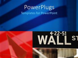 PowerPlugs: PowerPoint template with three tiles with text that spell out the words'wall s'