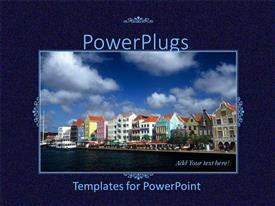 Powerplugs Powerpoint Template With Tile With A Shot Of A Row Of Houses Beside A