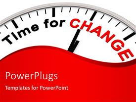 PowerPlugs: PowerPoint template with time for Change as motivation on a Clock