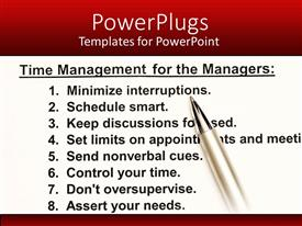 PowerPlugs: PowerPoint template with a time management scheduler with a number of tips