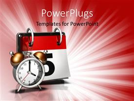 PowerPoint template displaying time moving on calendars days months years past present future
