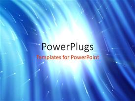 PowerPlugs: PowerPoint template with time warp traveling in space with space background and stars